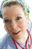 Nurse doctor with stethoscope Royalty Free Stock Images