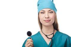 Nurse or doctor in studio. Stock Photo