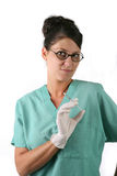 Nurse or doctor with syringe Royalty Free Stock Images