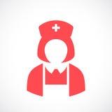 Nurse doctor woman vector icon Royalty Free Stock Photos