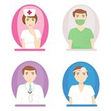 Nurse and doctors vector Stock Image