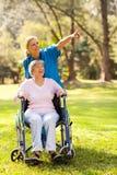 Nurse elderly patient Royalty Free Stock Images
