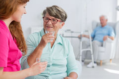 Nurse with elderly woman Royalty Free Stock Photo