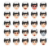 Nurse Emoticons Cartoon Vector Illustration Stock Photos