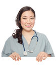 Nurse with expandable copy space Stock Photos