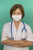 Nurse with face mask Royalty Free Stock Photos