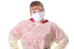 Nurse with face mask Royalty Free Stock Photos
