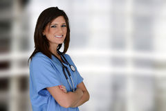 Nurse. Female nurse working her job in a hospital Stock Photo