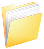 A nurse file in a folder Royalty Free Stock Image