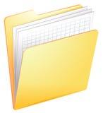 A nurse file in a folder royalty free illustration