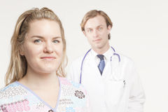 Nurse in focus Royalty Free Stock Photography