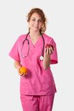 Nurse with fruit Royalty Free Stock Photos