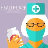Nurse with gauze bandage. Royalty Free Stock Photography