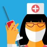 Nurse with gauze bandage. Royalty Free Stock Images