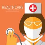 Nurse with gauze bandage. Stock Photo