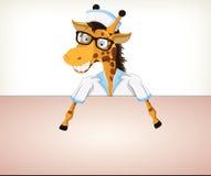 Nurse-Giraffe Royalty Free Stock Images