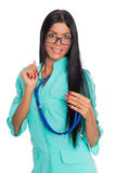 Nurse with glasses Royalty Free Stock Photography