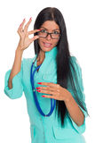 Nurse with glasses and a stethoscope Stock Images