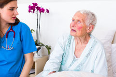 Nurse with great patience Stock Image