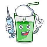 Nurse green smoothie character cartoon. Vector illustration royalty free illustration