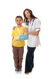 Nurse and happy patient Royalty Free Stock Photo