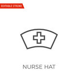 Nurse Hat Vector Icon. Nurse Hat Thin Line Vector Icon. Flat Icon Isolated on the White Background. Editable Stroke EPS file. Vector illustration royalty free illustration