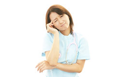 Nurse having a headache Royalty Free Stock Photography