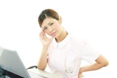 Nurse having a headache Stock Photography