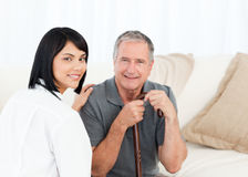 Nurse with her patient Stock Image