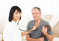 Nurse with her patient Royalty Free Stock Images