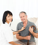 Nurse with her patient Stock Photography