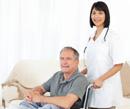 Nurse with her patient Stock Photo