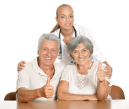 Nurse with her patients Royalty Free Stock Photography