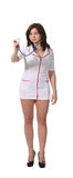 Nurse hold stethoscope Stock Image