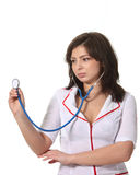 Nurse hold stethoscope Royalty Free Stock Photo