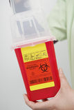Nurse Holding Disposal Container Royalty Free Stock Photography