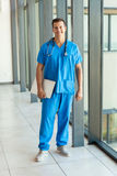 Nurse holding laptop Royalty Free Stock Photo