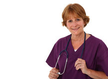 Nurse Holding Stethoscop In Hands Royalty Free Stock Images