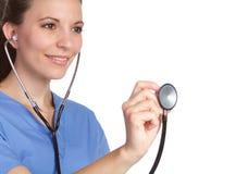 Nurse Holding Stethoscope Royalty Free Stock Photo