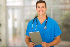 Nurse holding tablet computer Stock Photography