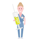 Nurse holds syringe Royalty Free Stock Images
