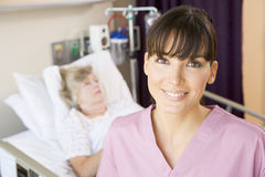 Nurse In Hospital Room,Smiling Royalty Free Stock Image