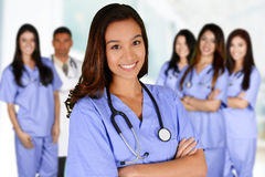 Nurse In Hospital. Nurse who is working her shift in a hospital Stock Photo