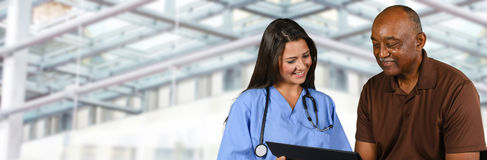 Nurse In Hospital. Nurse who is working her shift in a hospital Royalty Free Stock Photo