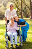 Nurse hugging patient Royalty Free Stock Images