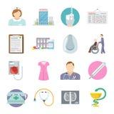 Nurse Icon Flat Royalty Free Stock Photos
