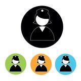 Nurse icons Royalty Free Stock Image