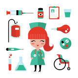 Nurse icons Stock Images