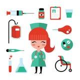 Nurse icons Stock Images
