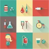 Nurse icons Royalty Free Stock Photography